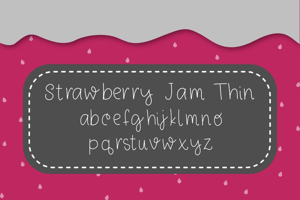Strawberry Jam Font example image 6