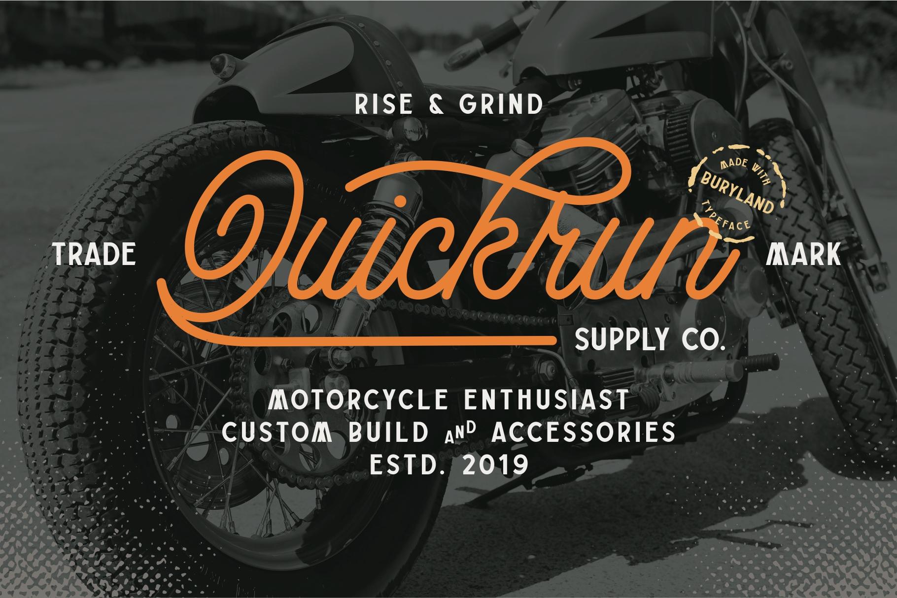 Buryland Typeface Collection example image 2