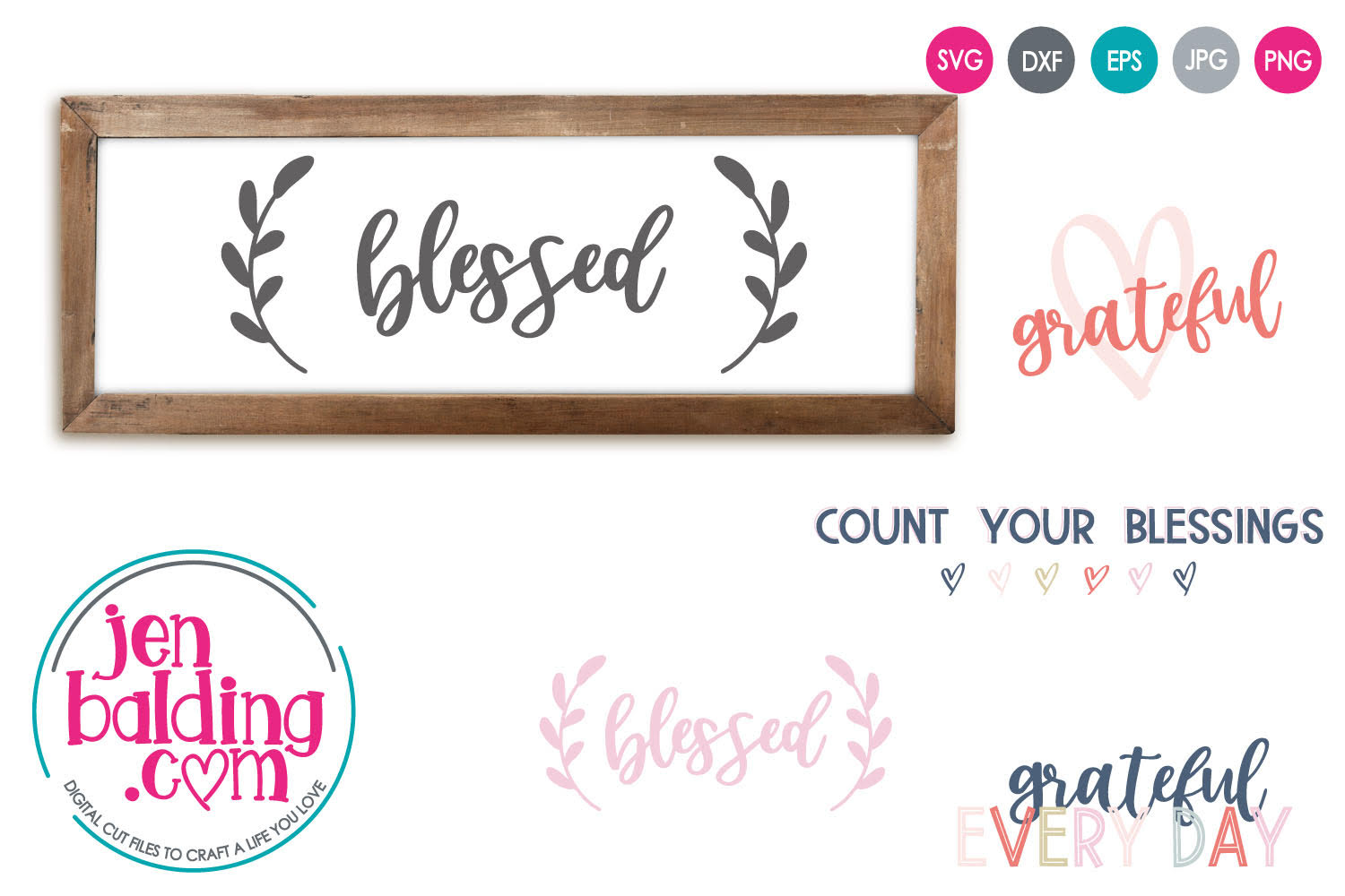 Gratitude SVG Mini Bundle example image 1