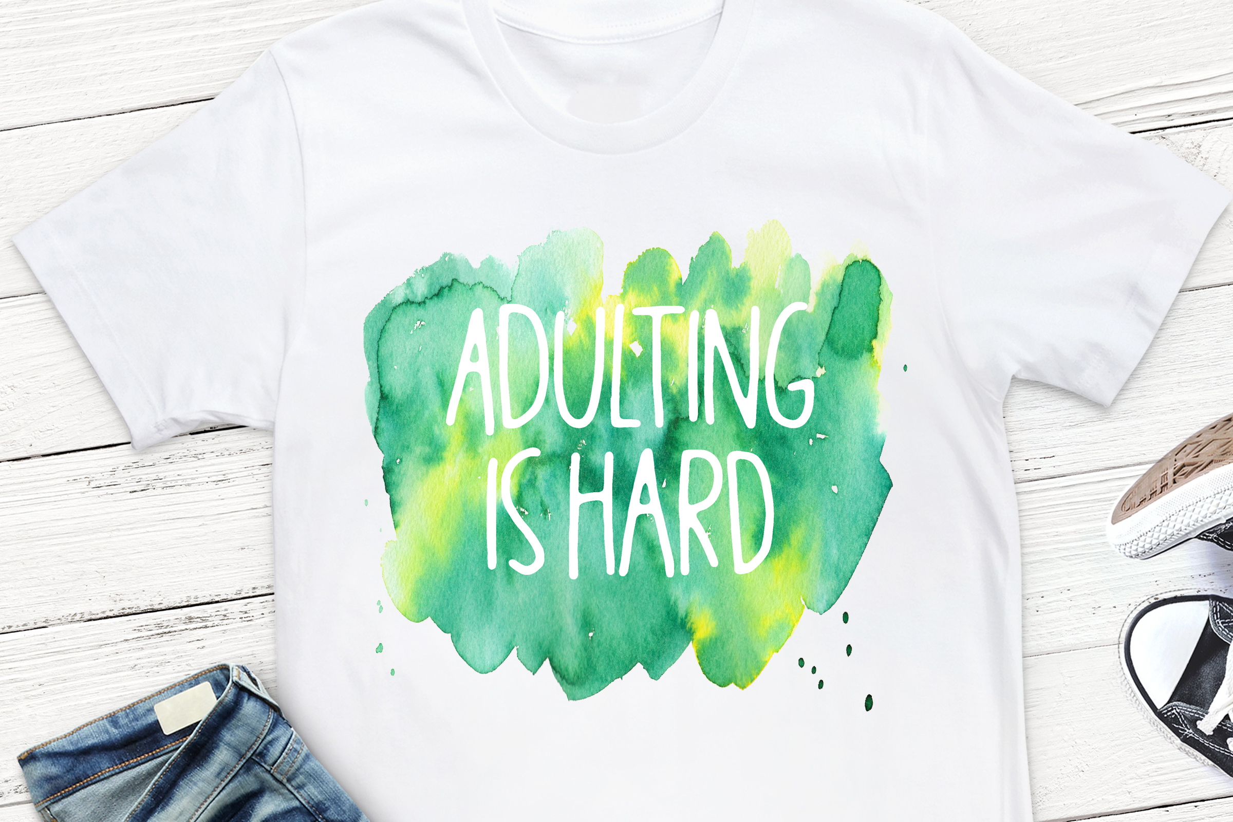Adulting Is Hard Sublimation Design, example image 1