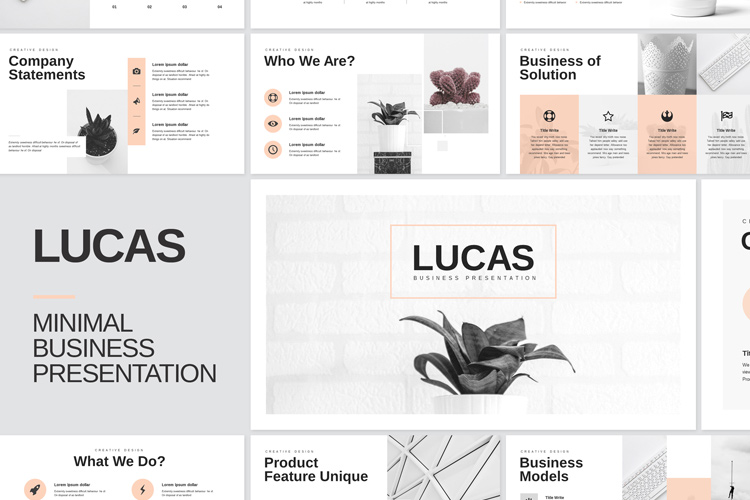 Minimal Business PowerPoint Presentation Template example image 1