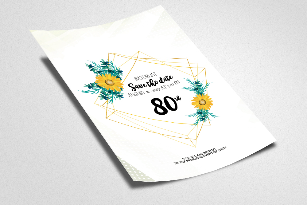 Floral Save The Date Flyer example image 2