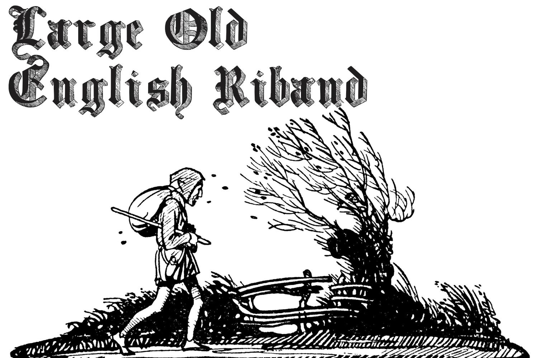 Large Old English Riband example image 1