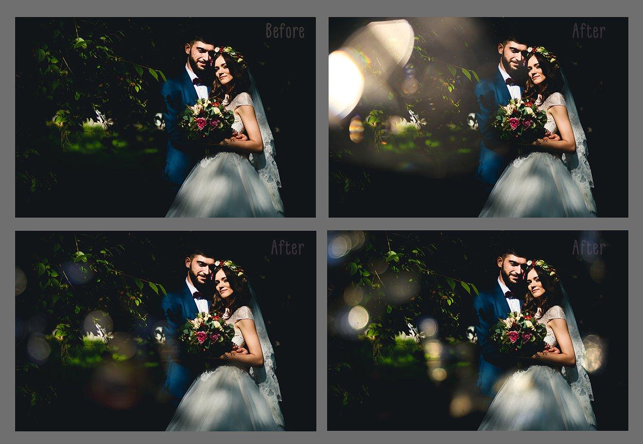 Wedding Art Bokeh Photo Overlays example image 4