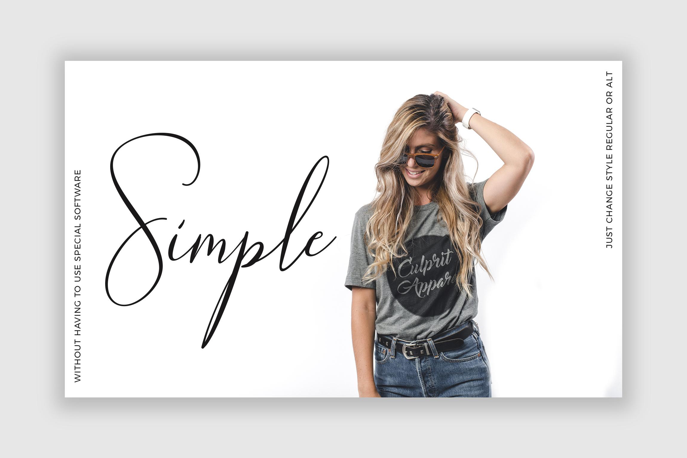 NicoleWhite Signature Font -Big Update - example image 3