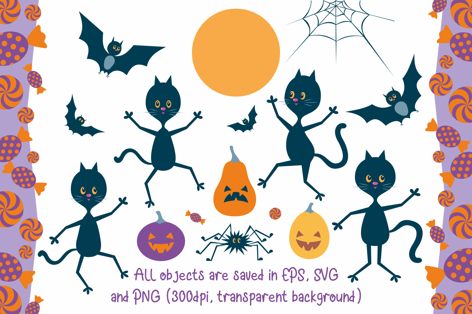 Halloween dance. Funny witches and black cats. example image 3