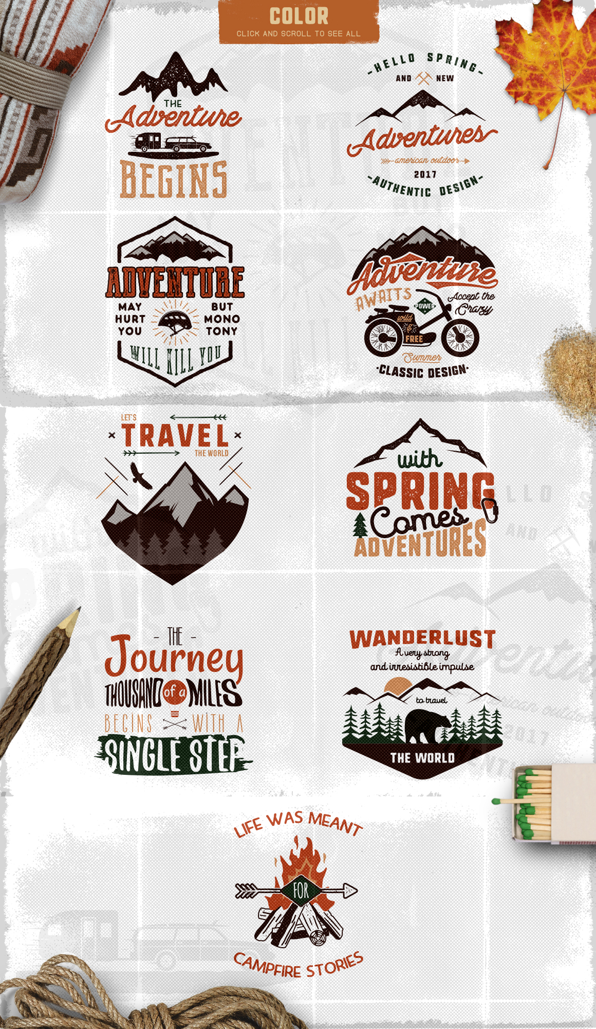 Spring Adventure Motivational Labels example image 6