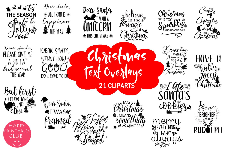 Christmas Overlays-Clipart Bundle-Holiday Overlays Bundle example image 7