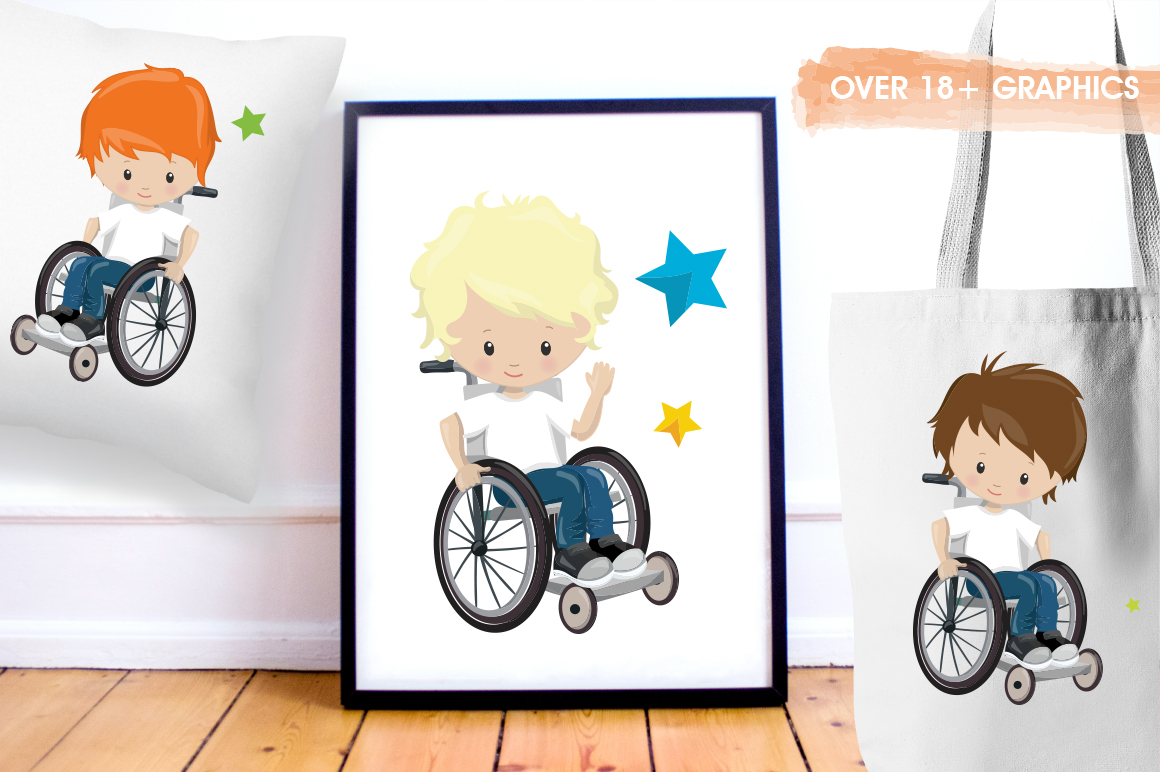 Little boys graphic and illustrations example image 2