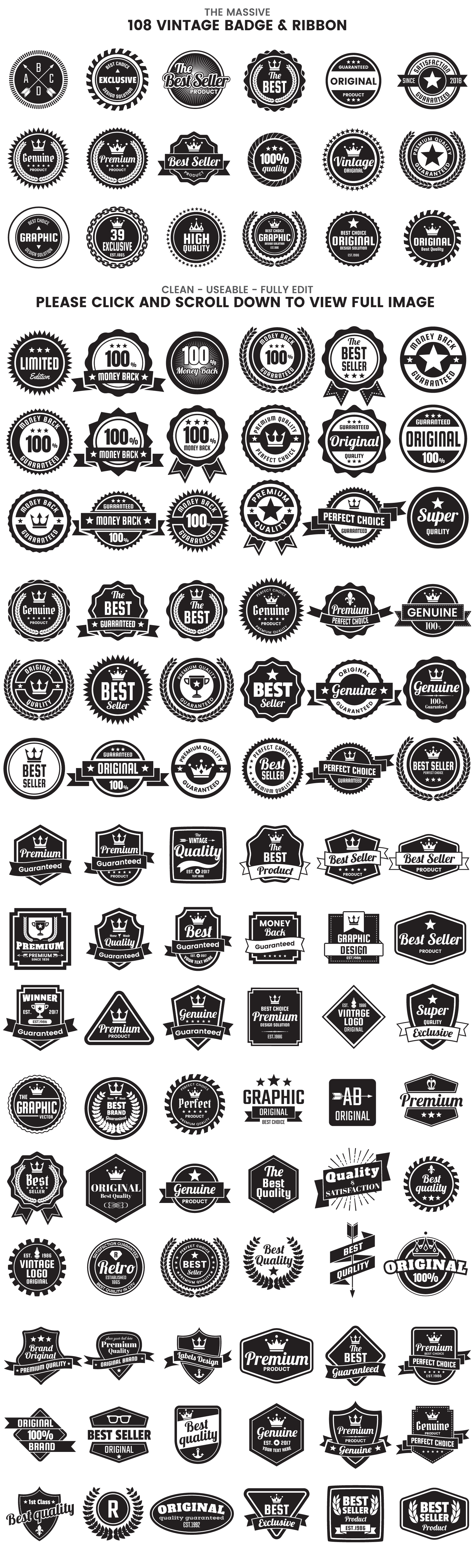 1046 VINTAGE BADGE & RIBBON example image 7
