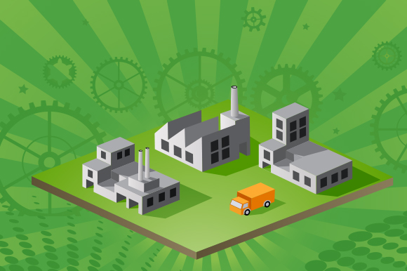 Industrial vector town example image 1