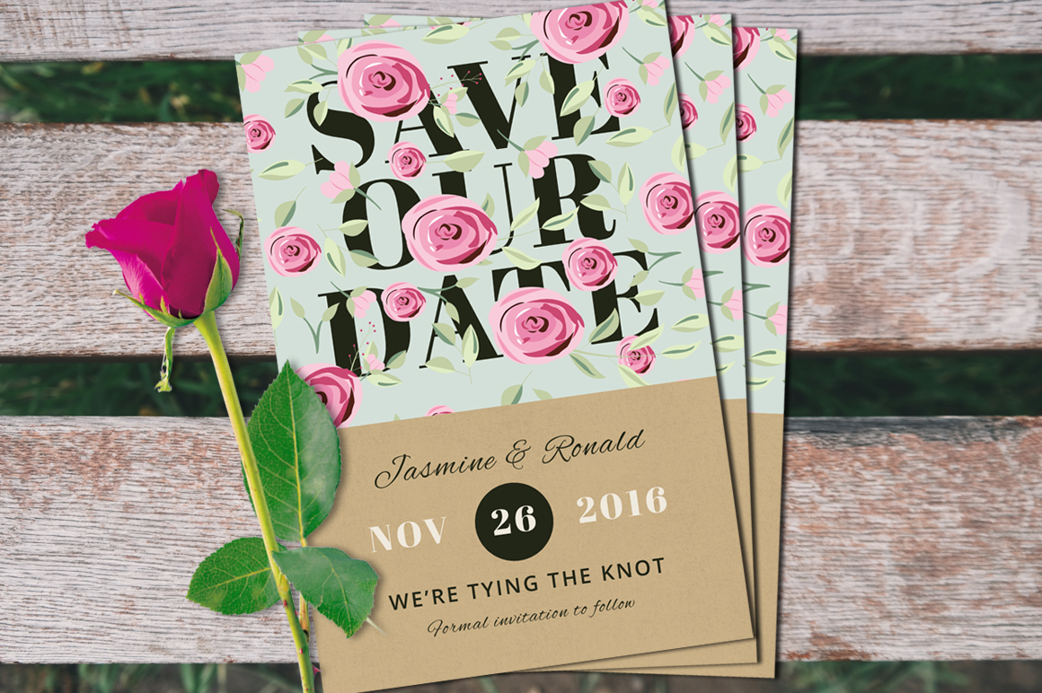 Vintage Wedding Invitation Suite example image 3