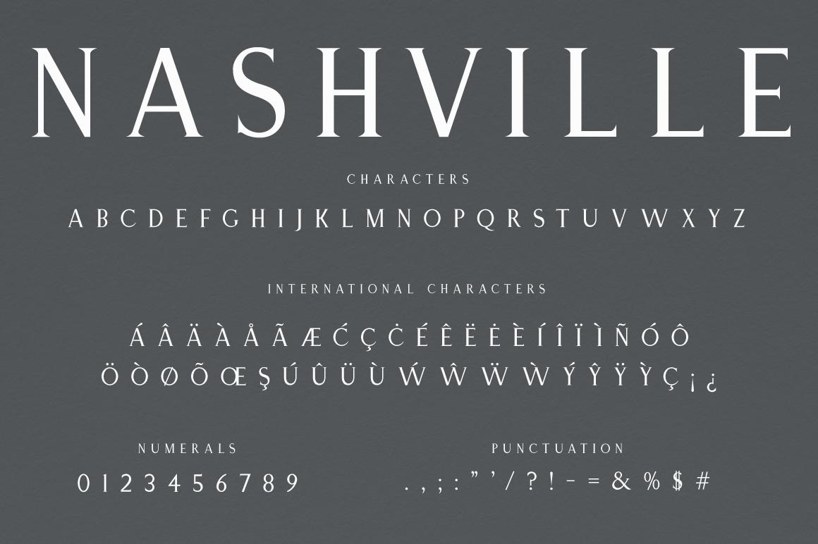 Nashville | Elegant Serif Typeface example image 6