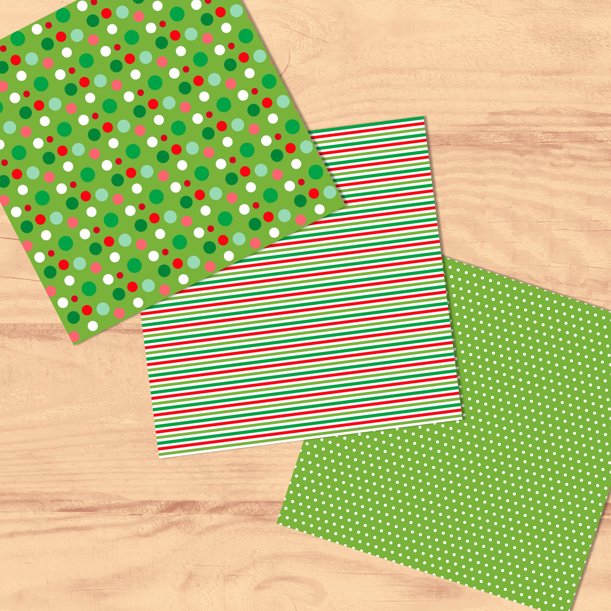 Bright Christmas 12 Tileable Digital Papers example image 2