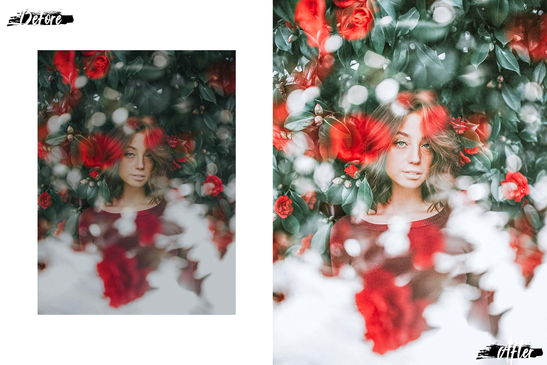 10 Winter Wonderland Mobile Lightroom Presets, Xmas photo example image 5