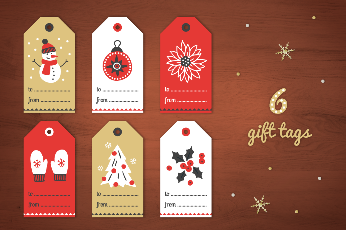 Christmas Ribbons, Stickers, Tags example image 2