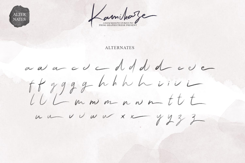 Kamikaze SVG Font example image 9