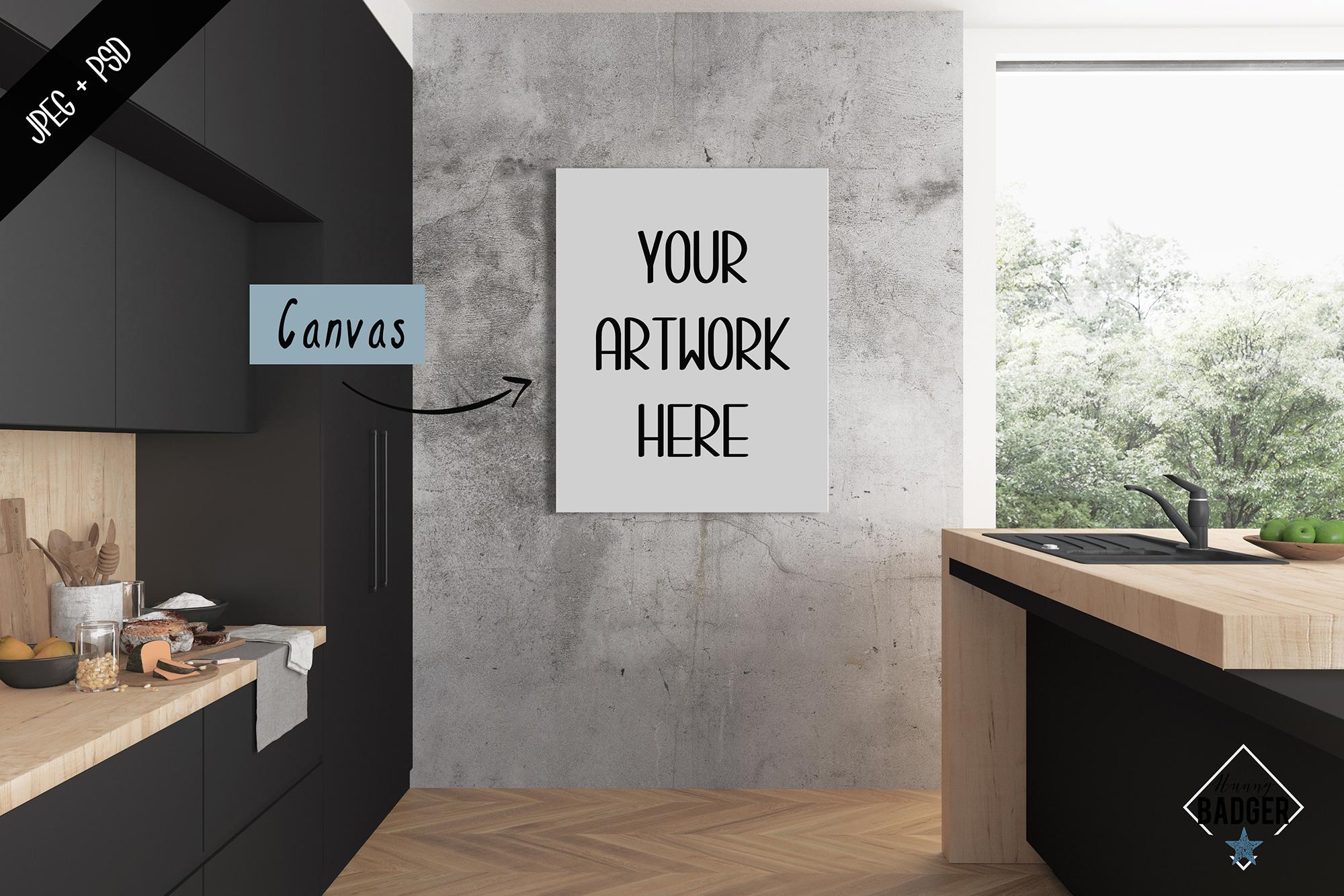 Interior mockup - frame & wall mockup creator example image 4