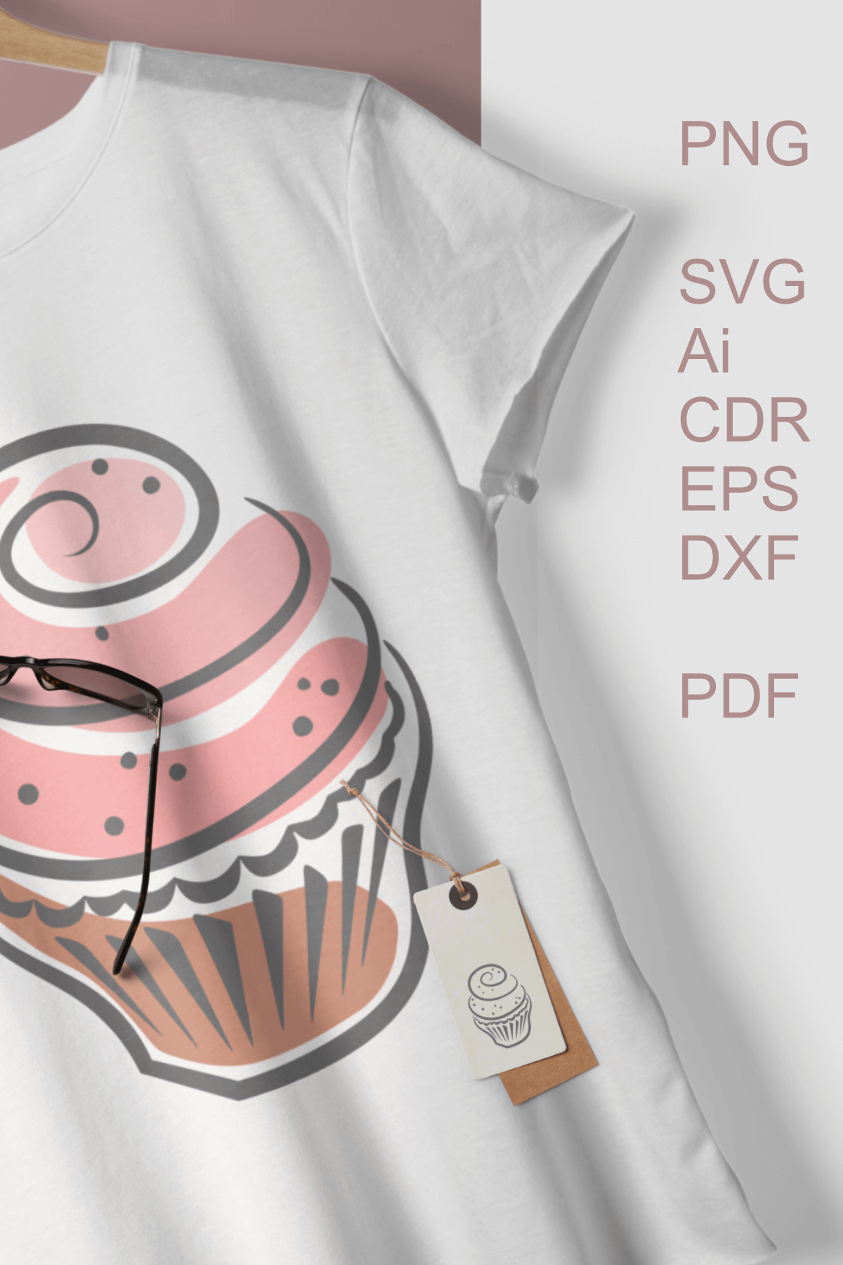 Cupcakes Clipart SVG PDF AI DXF for Crafts and Stationery example image 4