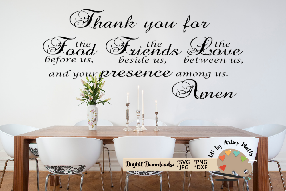 Family Wall Decal Svg Dining Room Kitchen Prayer