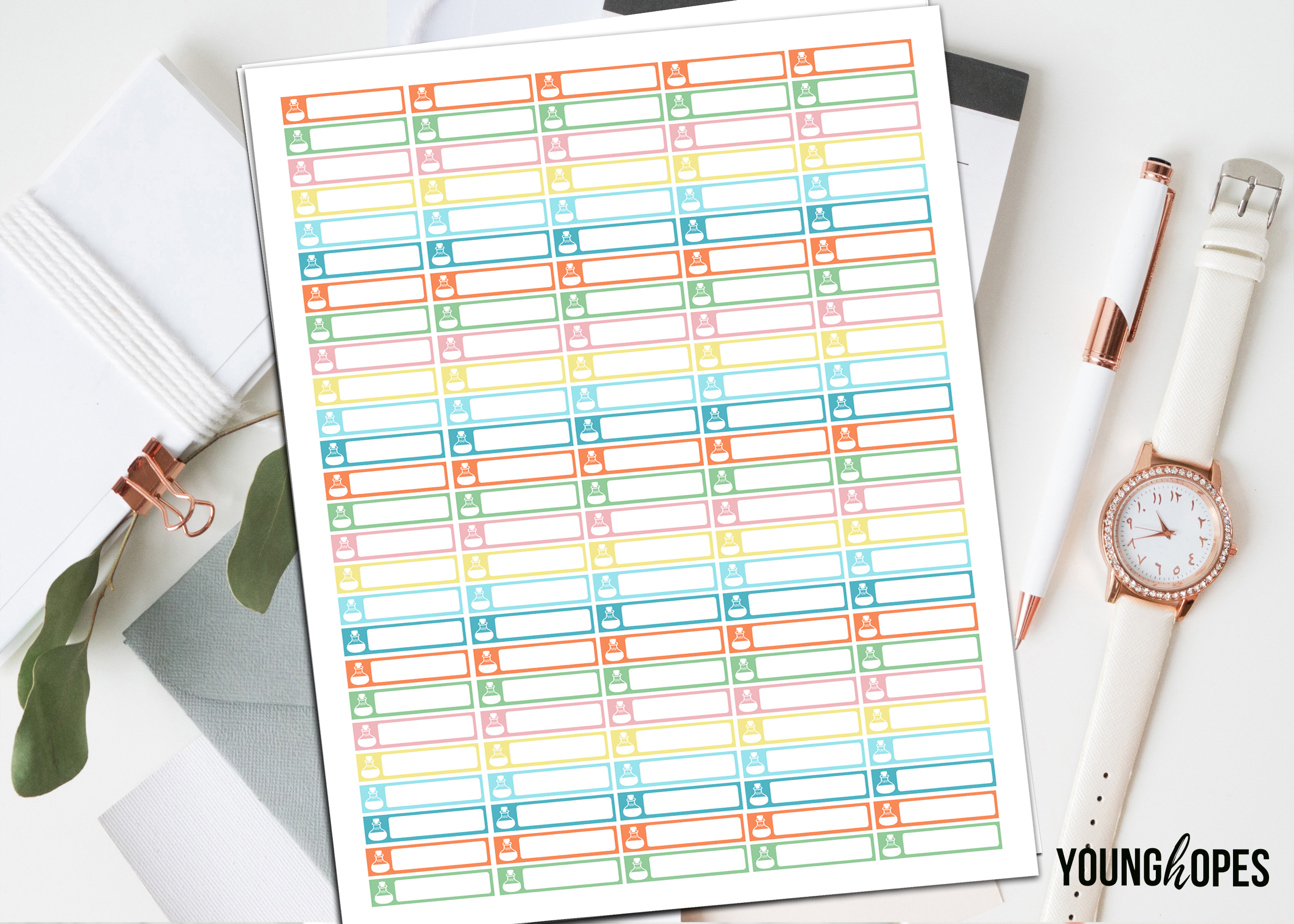 Essential Oils Planner Stickers Printable Stickers example image 1