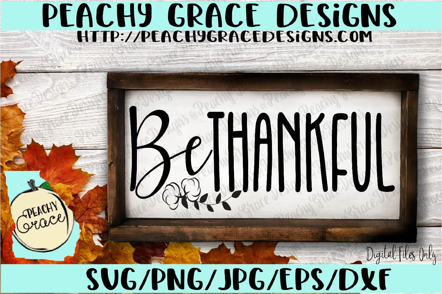 Be Thankful SVG example image 1