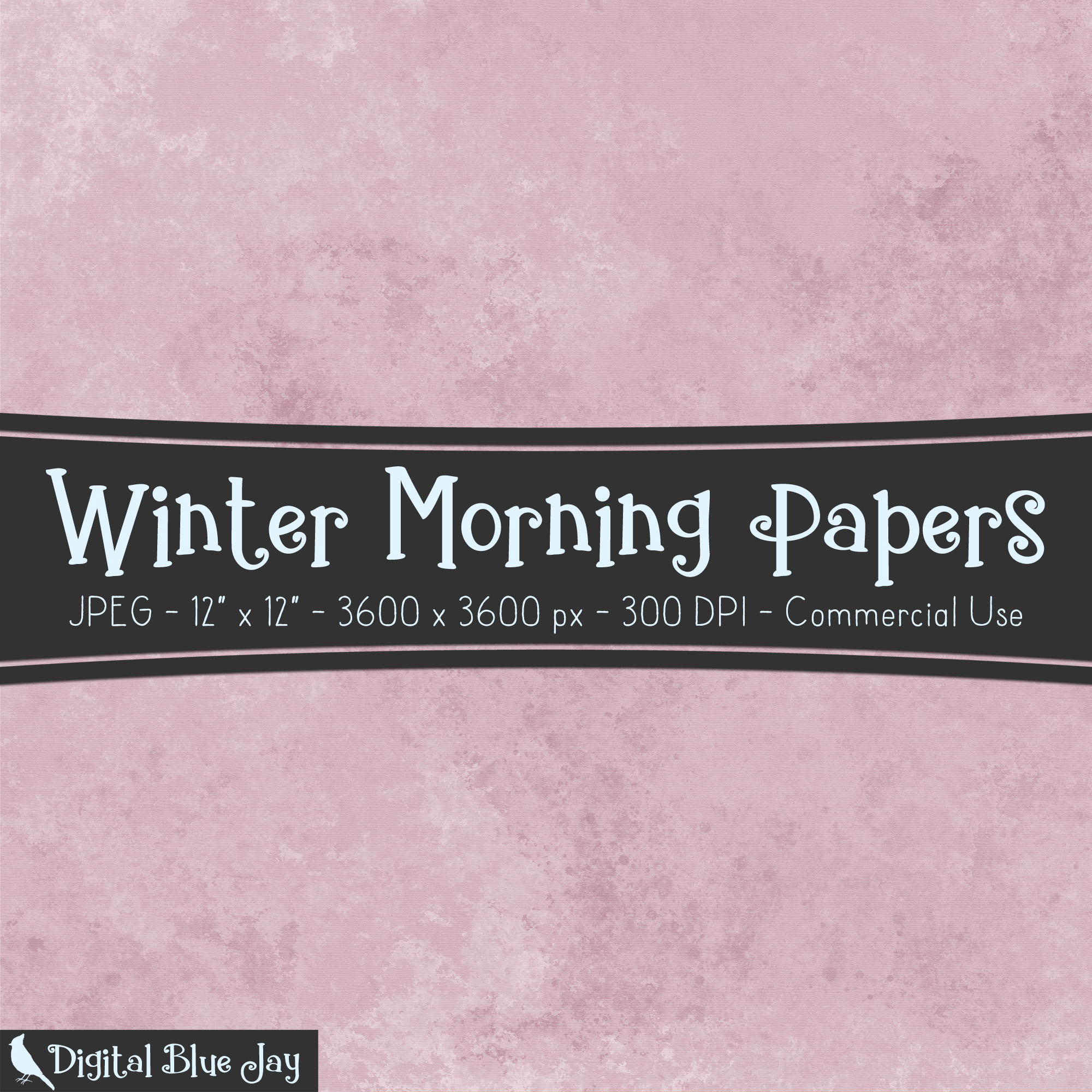 Digital Paper Textured Backgrounds - Winter Morning example image 2
