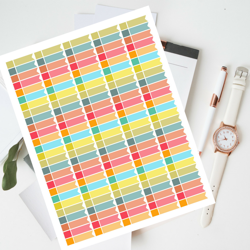 Blank Planner Stickers Template Functional Stickers Planner example image 1