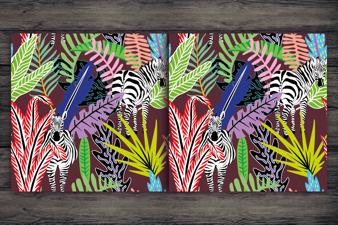 Abstract seamless tropical pattern example image 8