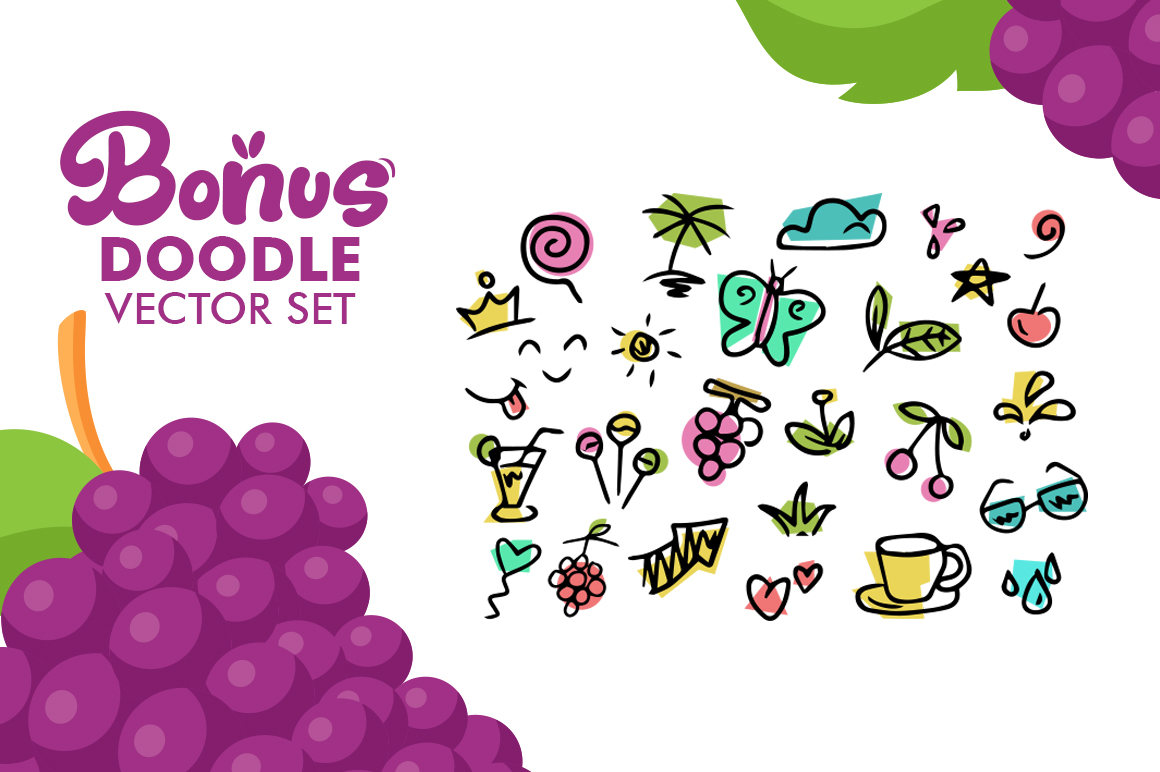 Fresh Grapes 4 Font example image 6