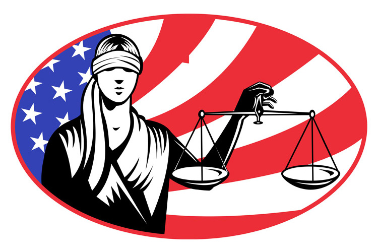 lady blindfold scales of justice american flag example image 1