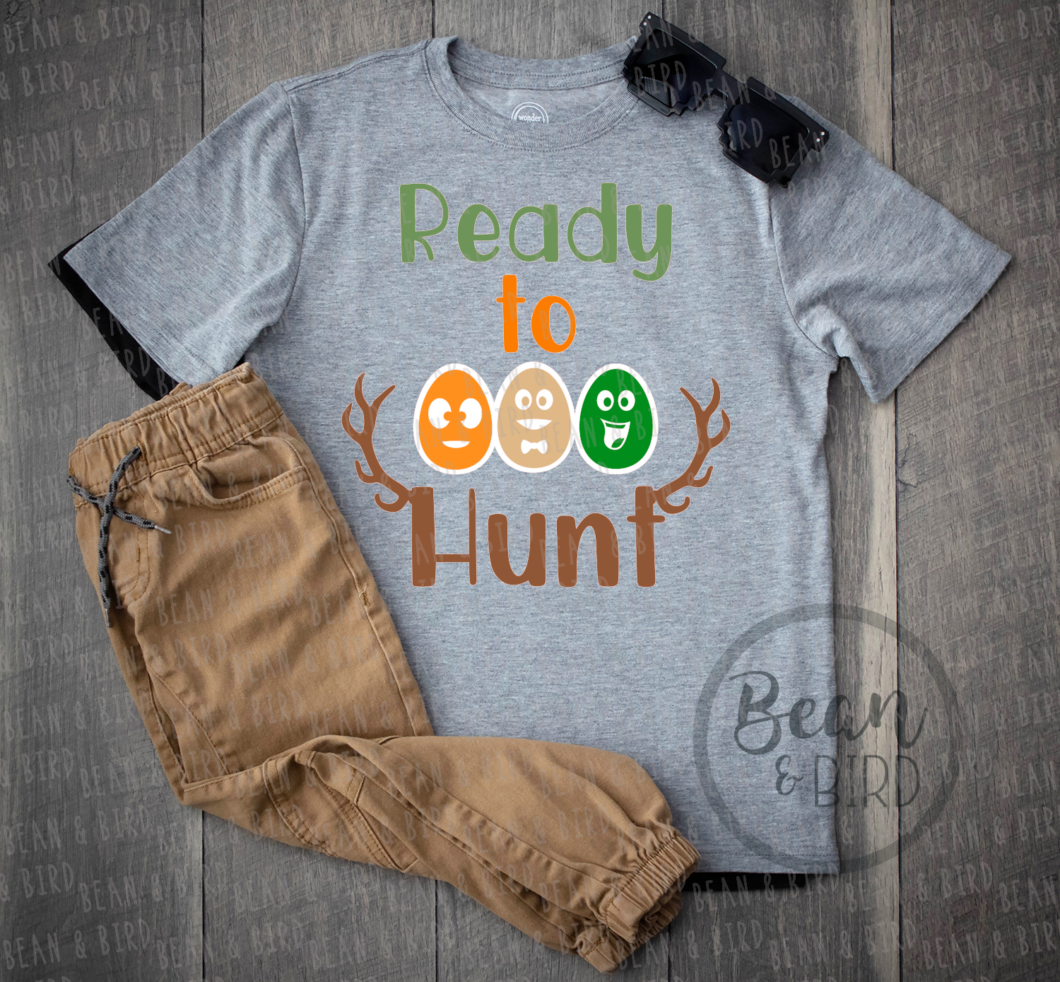 Ready to Hunt Easter Svg Cut File example image 3