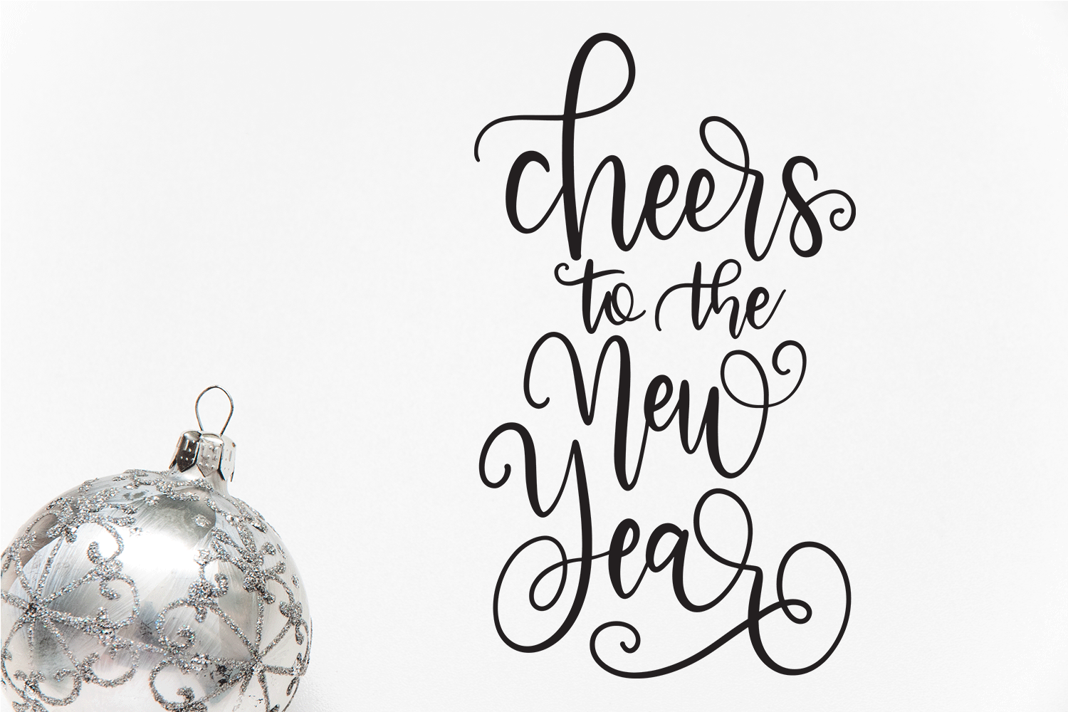 New Year SVG Bundle- Hand-lettered - 11 SVG Cut Files example image 11