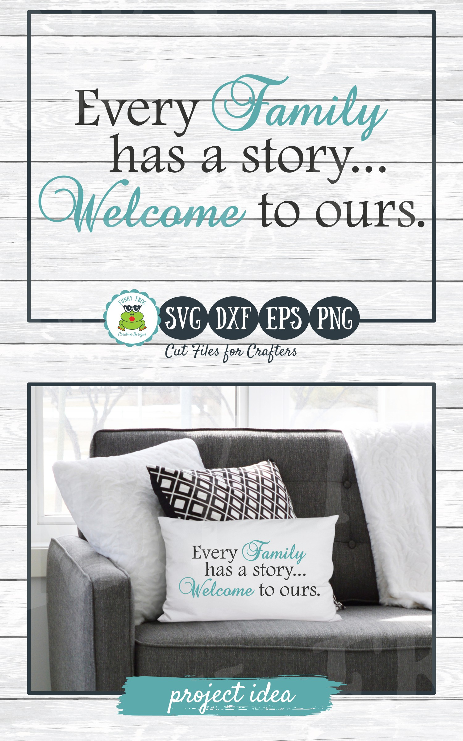Every Family has a Story Welcome to Ours SVG Cut File example image 3