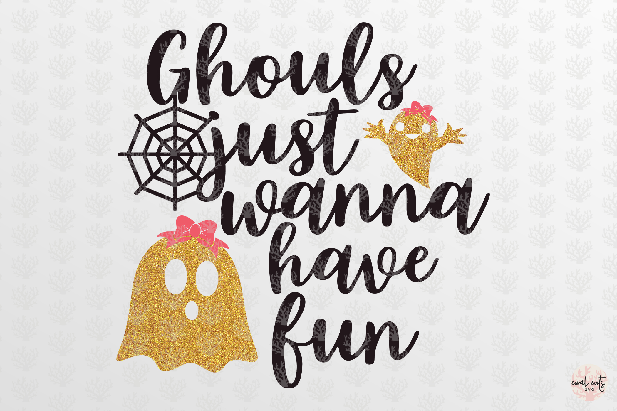 Ghouls Just Wanna Have Fun - Halloween Svg Cutting Files example image 2