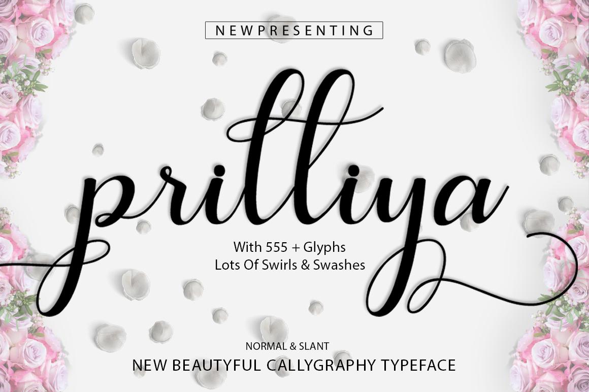 Prilliya Script example image 1