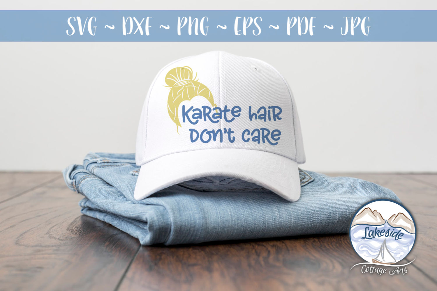 Karate Hair Don't Care 2- Martial Arts SVG example image 2