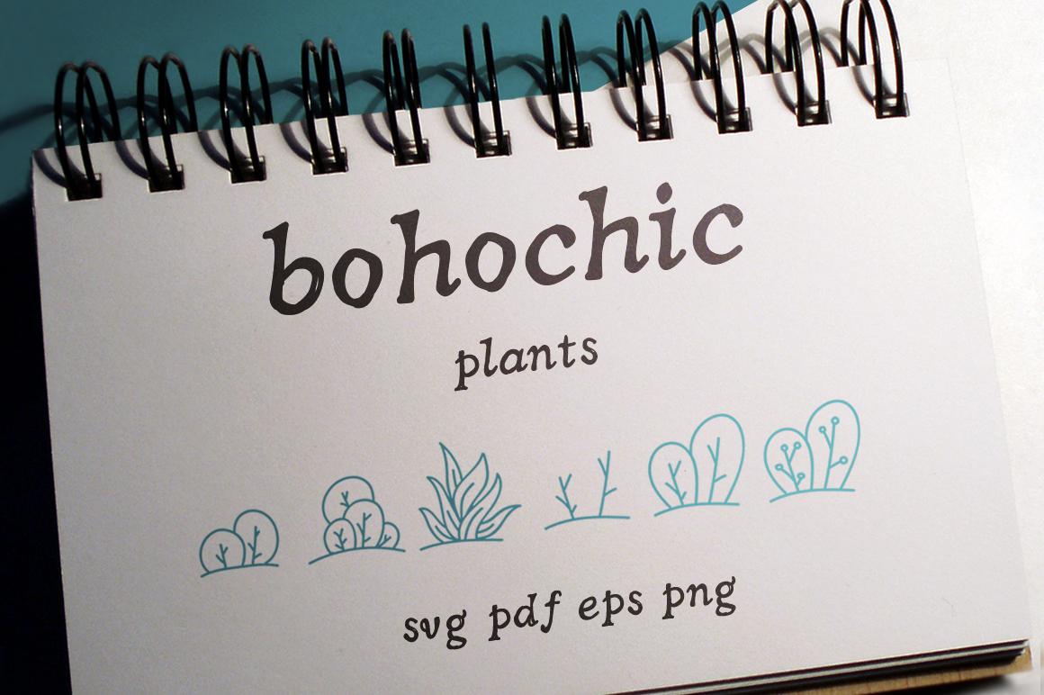 100 Boho-Chic Plants Vectors example image 1