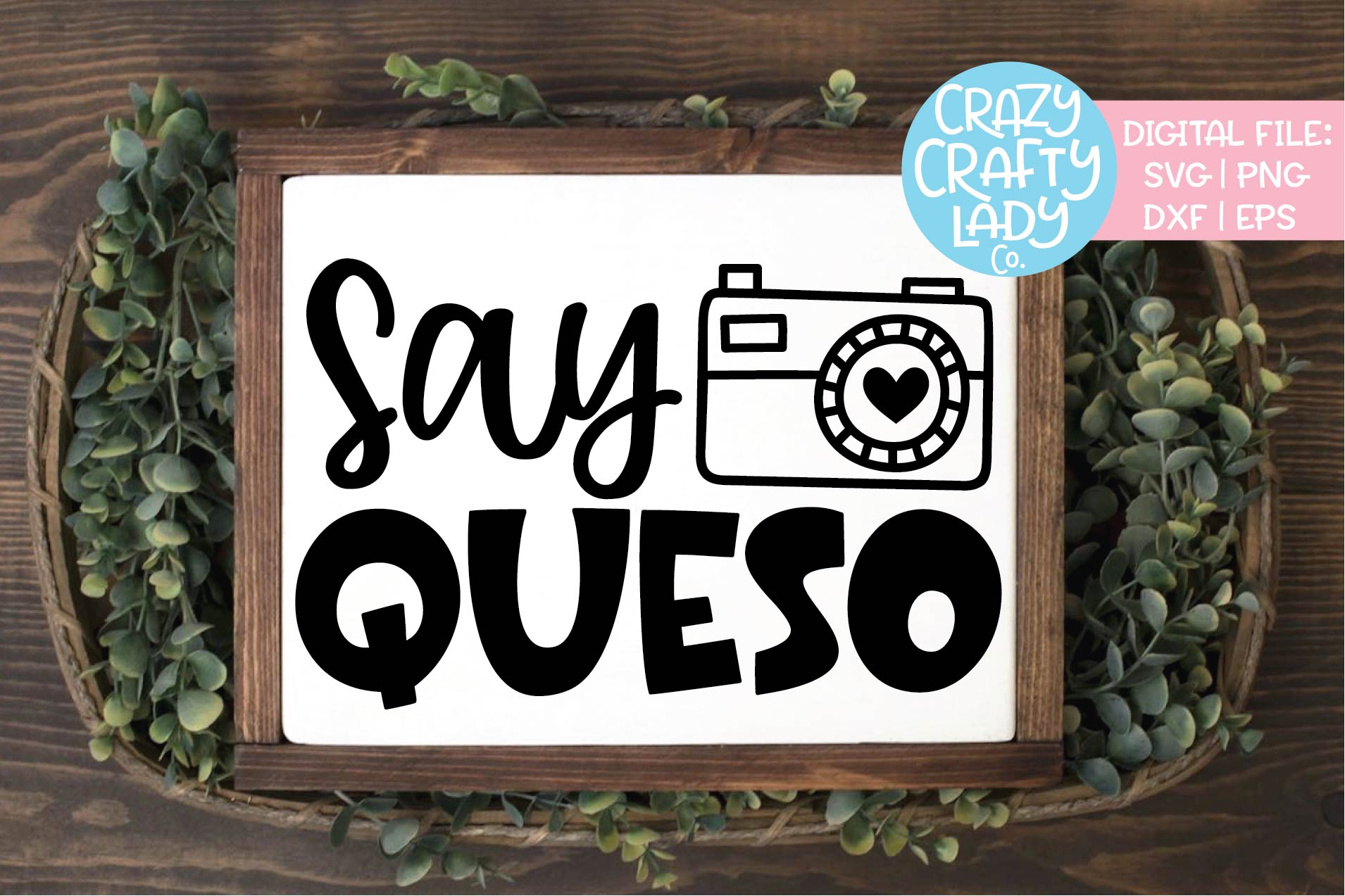 Say Queso Cinco de Mayo SVG DXF EPS PNG Cut File example image 1