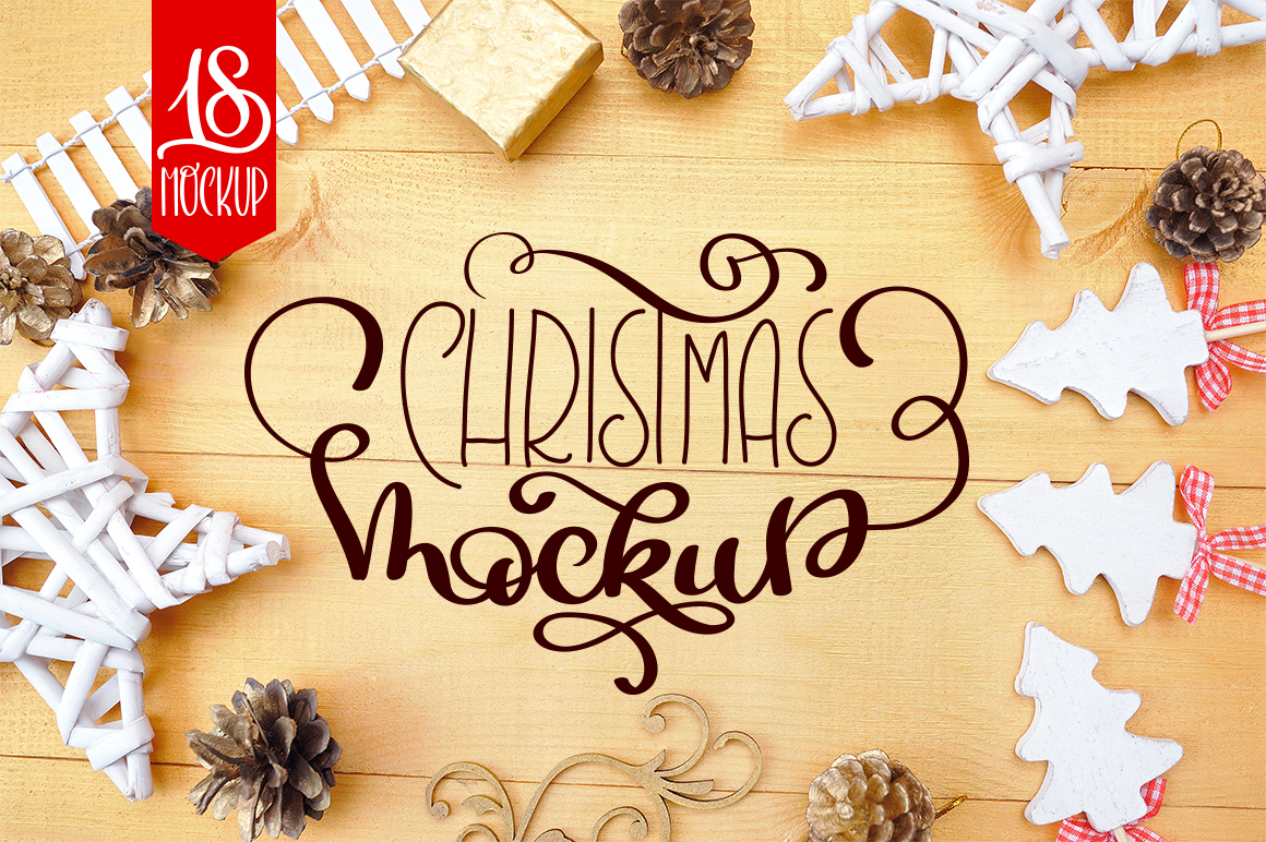 Christmas Mock Up Photos Collection 3 example image 1