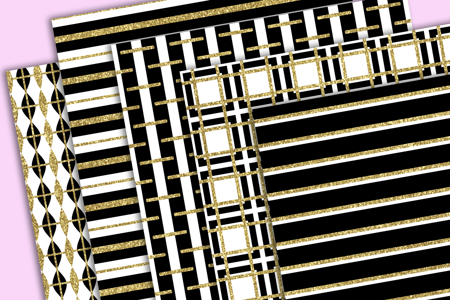 Black White and Gold Textures example image 3