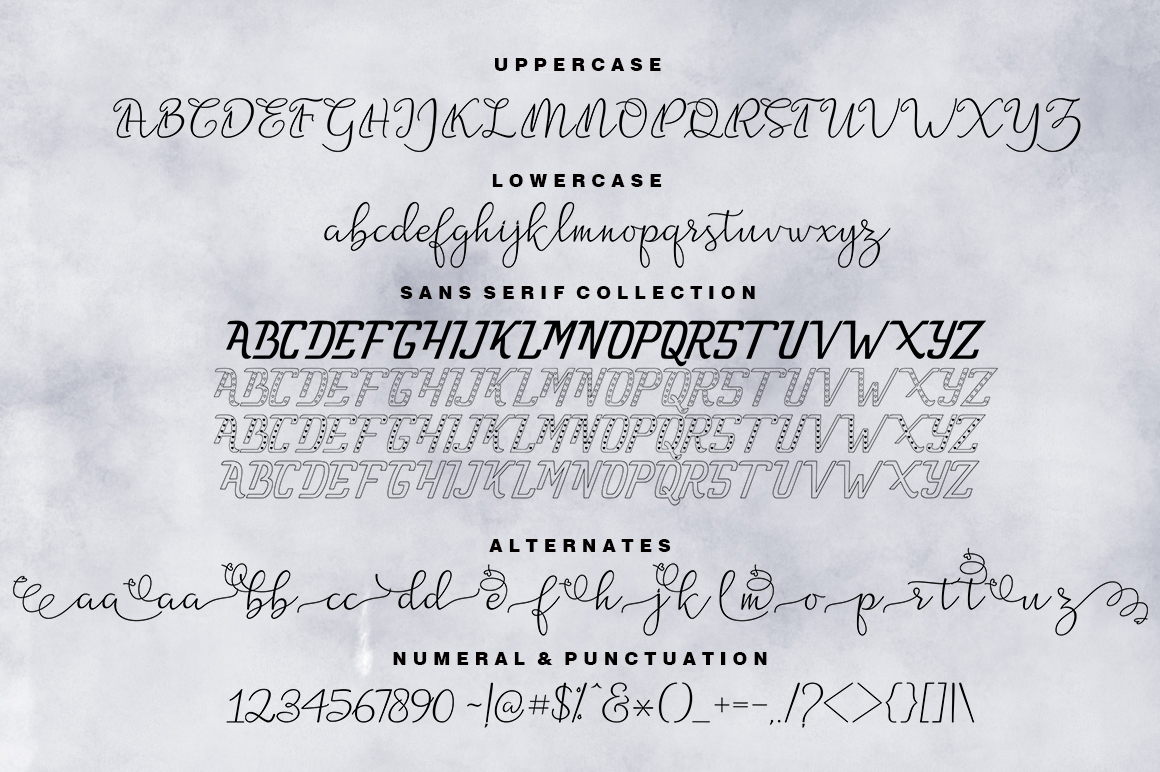 Nathalia Fonts Family example image 3