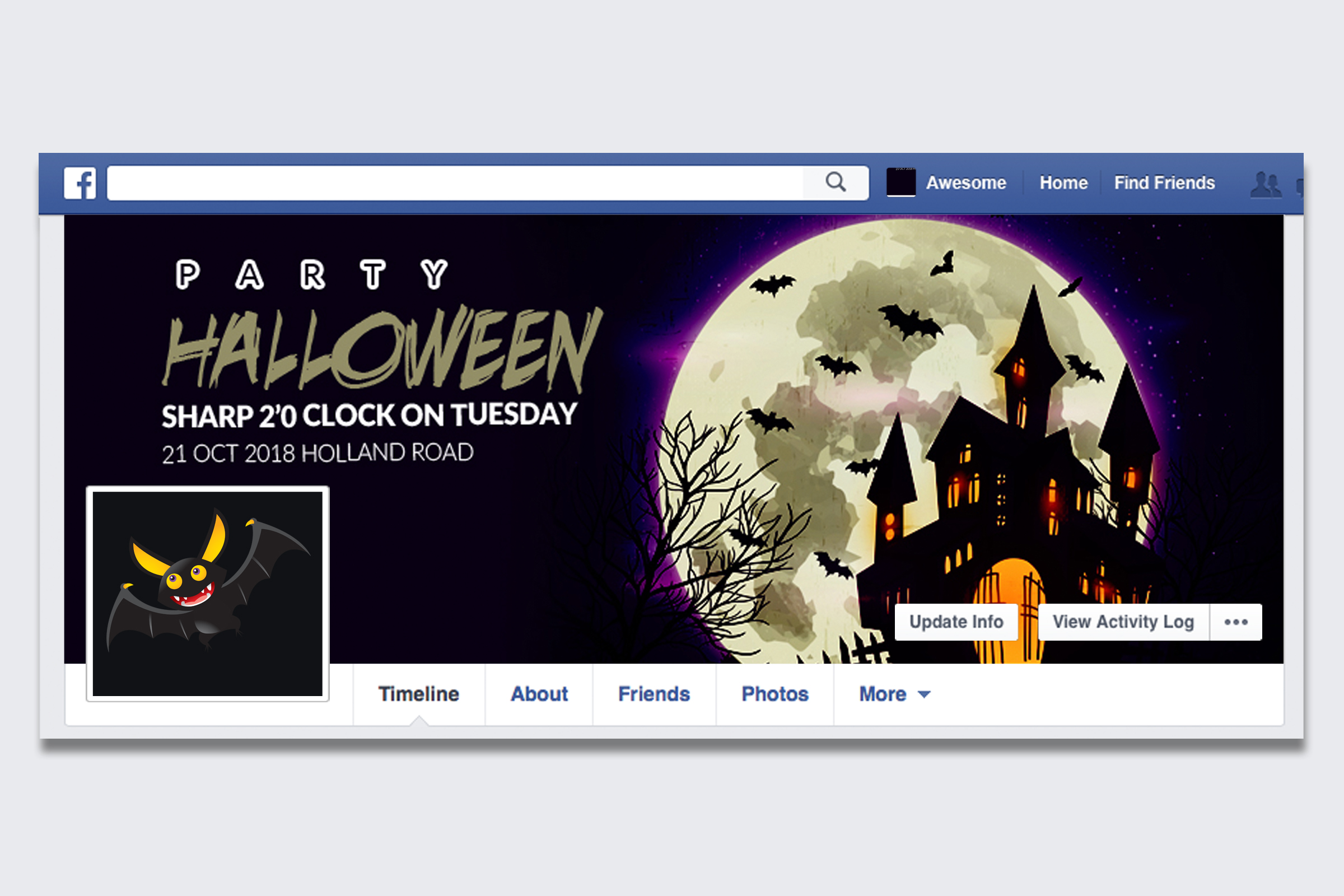 10 Halloween Facebook Timeline Cover Bundle example image 6