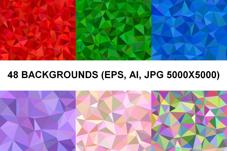 48 Triangle Backgrounds AI, EPS, JPG 5000x5000 example image 1
