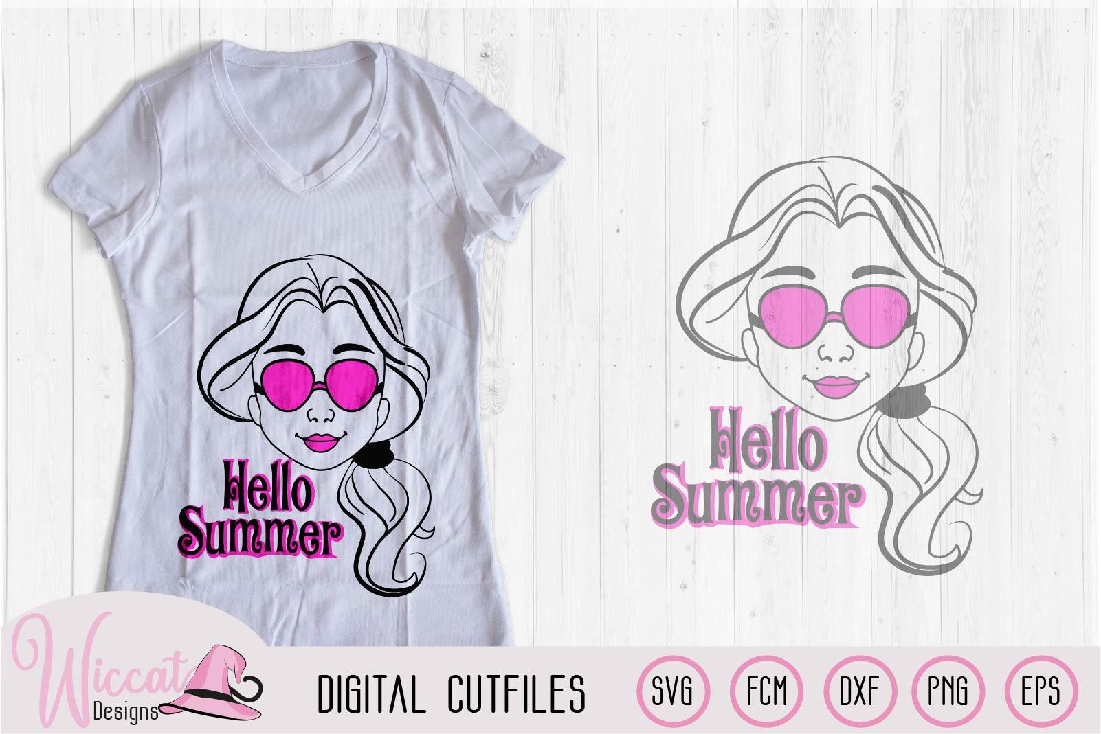 Summer girl, Cool girl, Hello summer, flower girl cut file example image 3