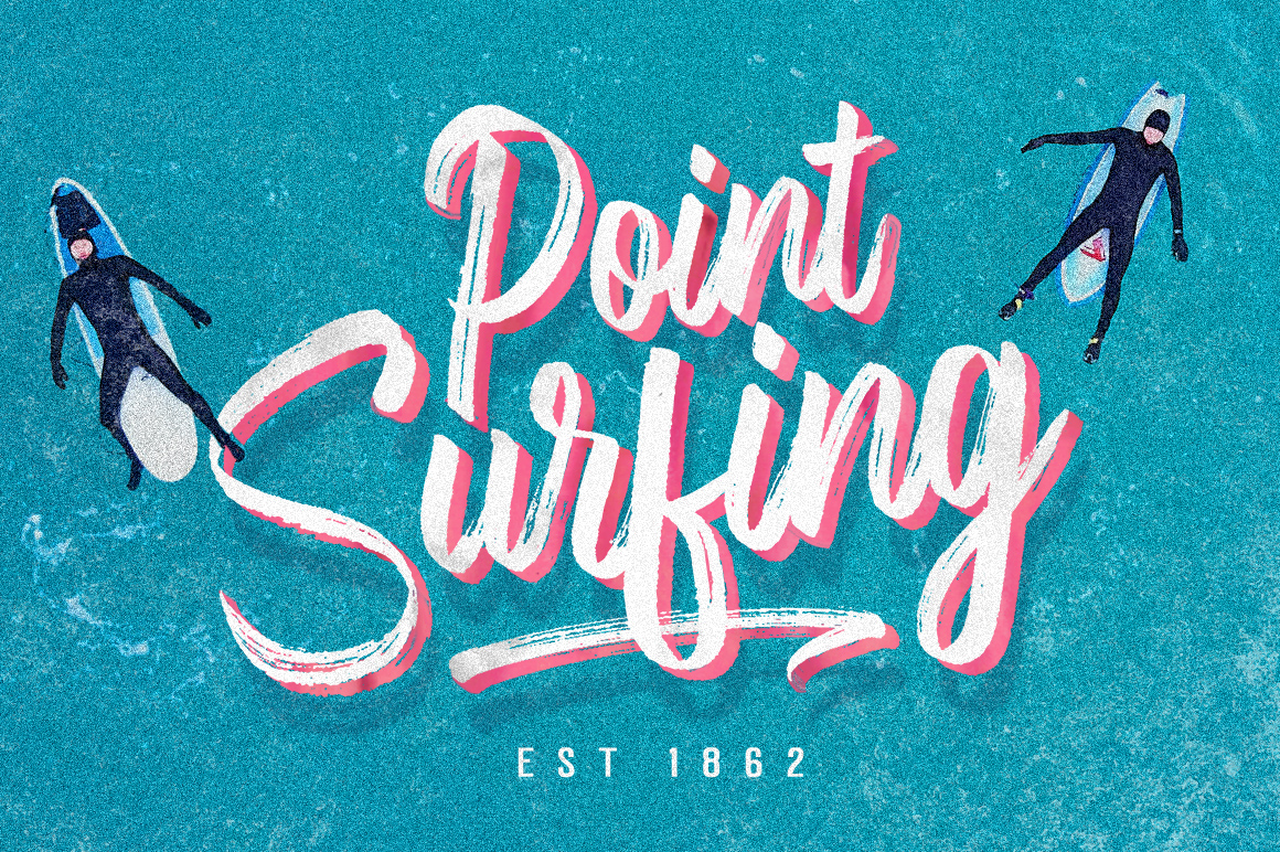 Fronds Getturing Brush Font example image 4