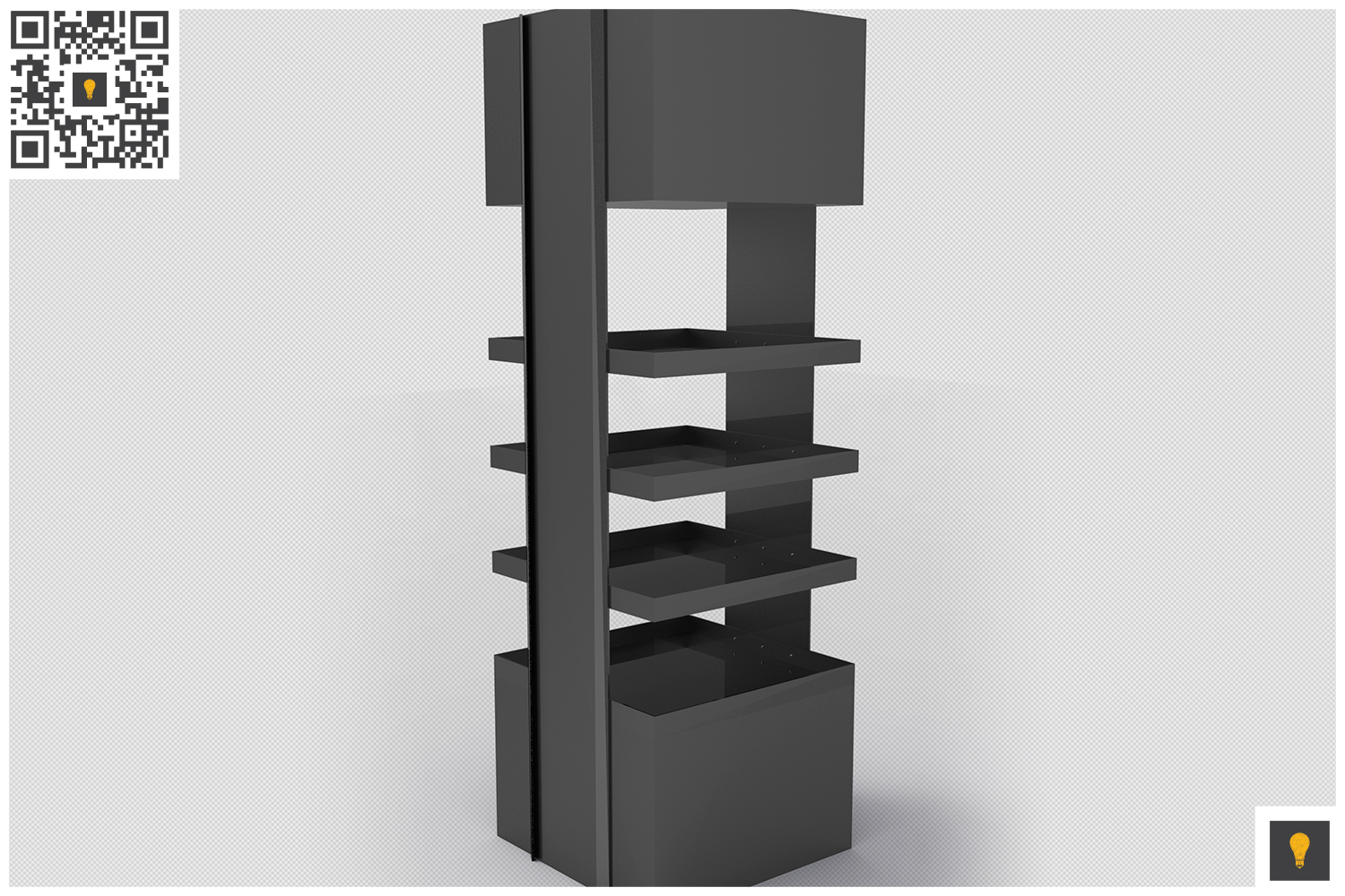 Promotional Store Shelf Stand 3D Render example image 4