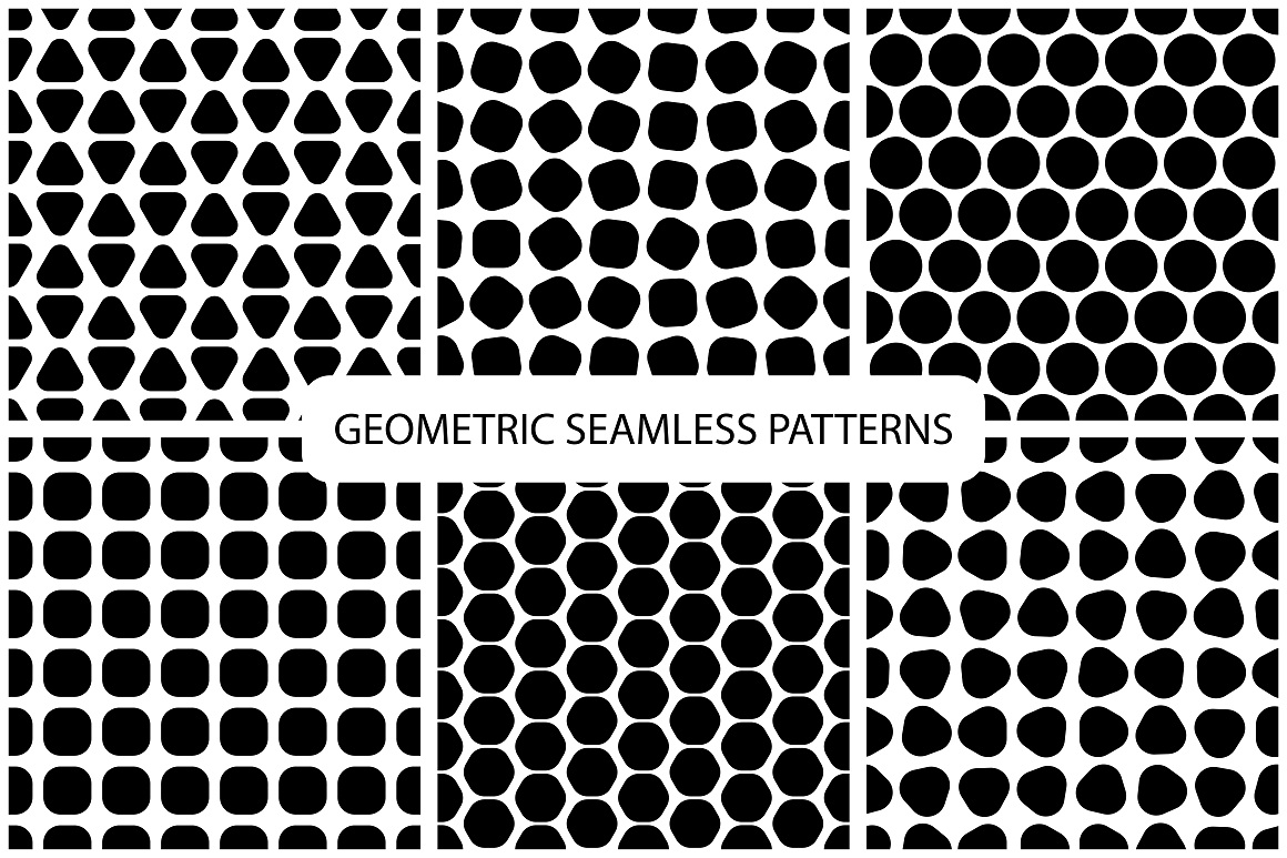 Seamless geometric patterns. 3 colors example image 11