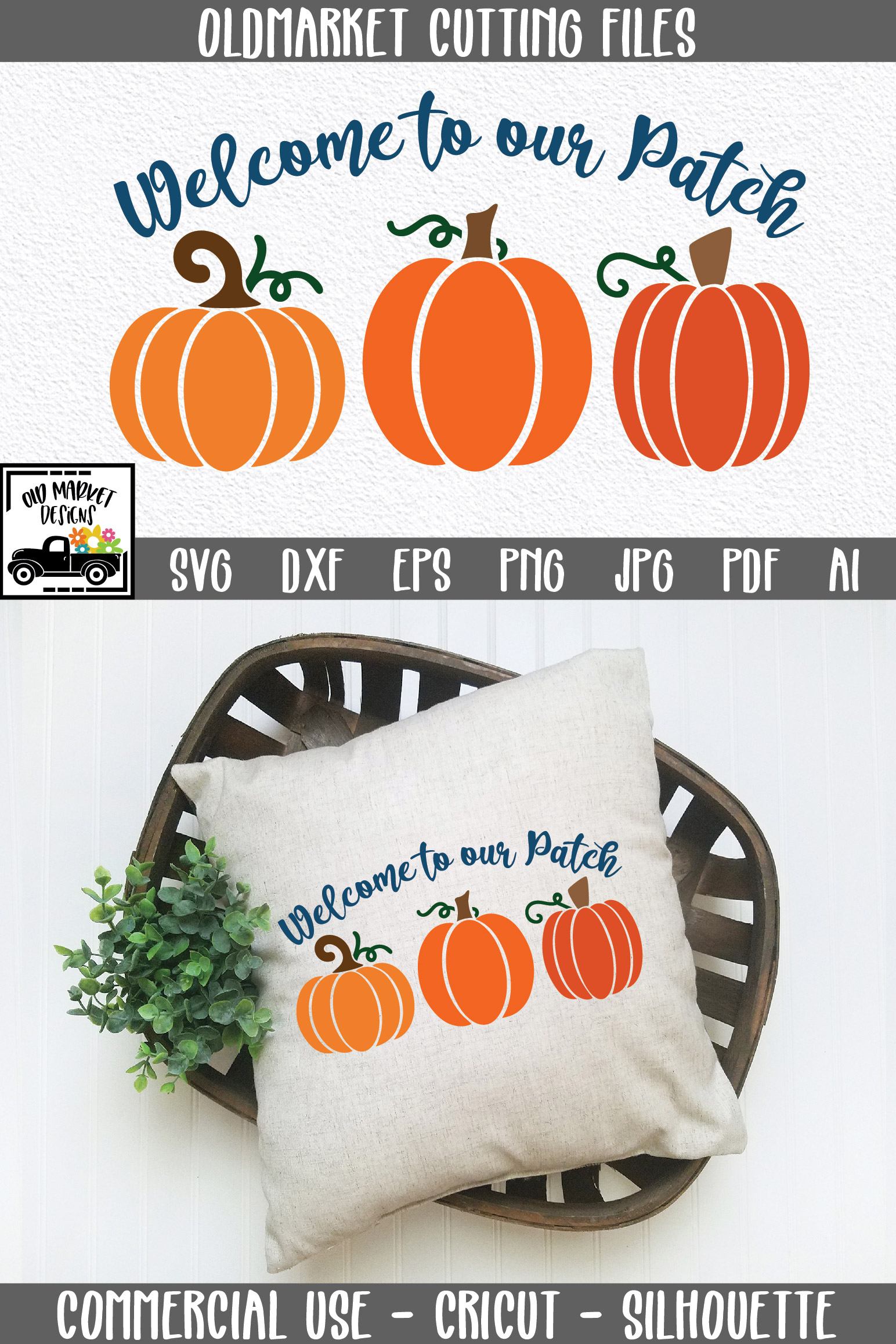 Welcome to our Patch SVG Cut File - Fall Pumpkin SVG example image 6