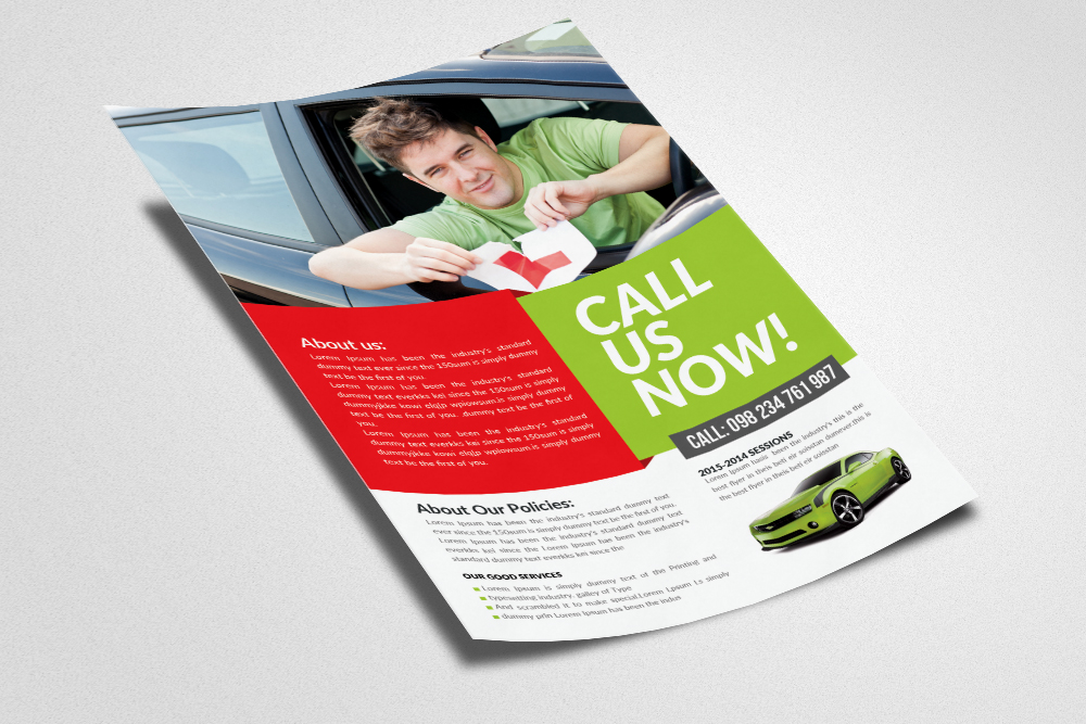 Driving Learning School Flyer Temp example image 2